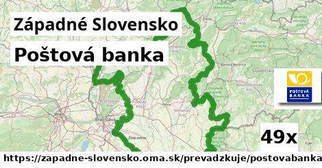 Poštová banka v Západné Slovensko