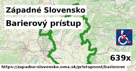 barierový prístup v Západné Slovensko