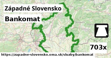 ilustračný obrázok k Bankomat, Západné Slovensko