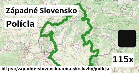 polícia v Západné Slovensko