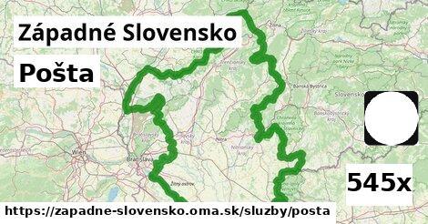 pošta v Západné Slovensko