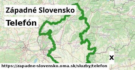 telefón v Západné Slovensko
