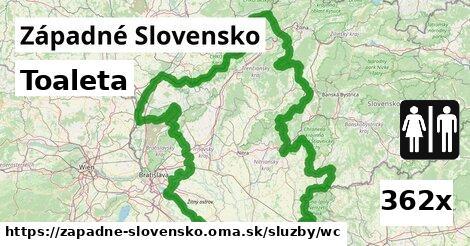 toaleta v Západné Slovensko