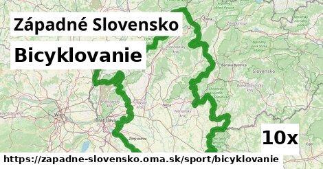 bicyklovanie v Západné Slovensko