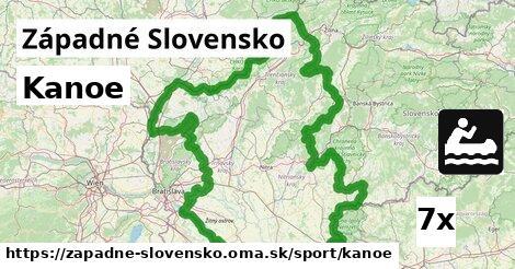kanoe v Západné Slovensko