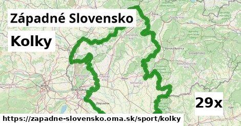 kolky v Západné Slovensko