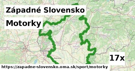 motorky v Západné Slovensko