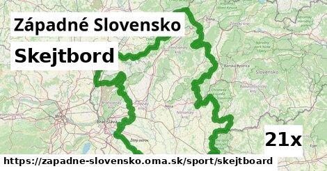 skejtbord v Západné Slovensko