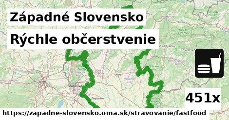 rýchle občerstvenie v Západné Slovensko