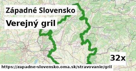 verejný gril v Západné Slovensko