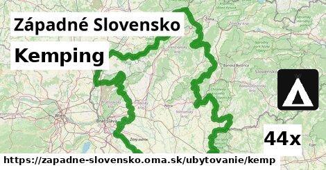 kemping v Západné Slovensko