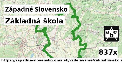 ilustračný obrázok k Základná škola, Západné Slovensko