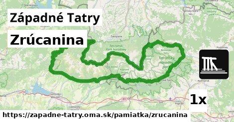 ilustračný obrázok k Zrúcanina, Západné Tatry