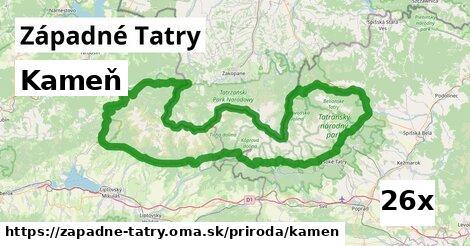 kameň v Západné Tatry