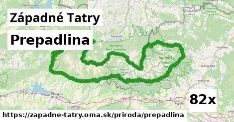 prepadlina v Západné Tatry