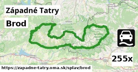 brod v Západné Tatry