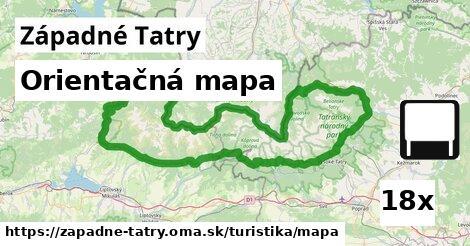 ilustračný obrázok k Orientačná mapa, Západné Tatry