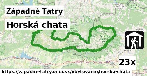 horská chata v Západné Tatry