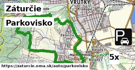 parkovisko v Záturčie