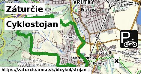 cyklostojan v Záturčie