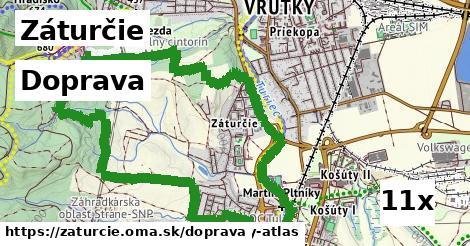 doprava v Záturčie