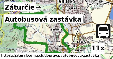 autobusová zastávka v Záturčie