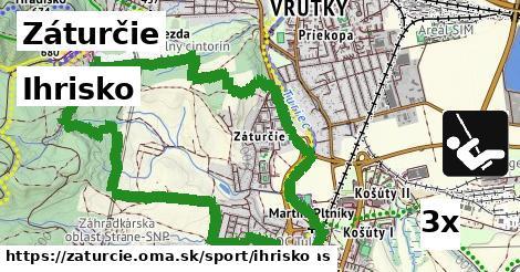 ihrisko v Záturčie