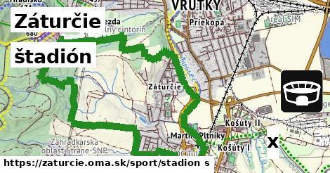 štadión v Záturčie