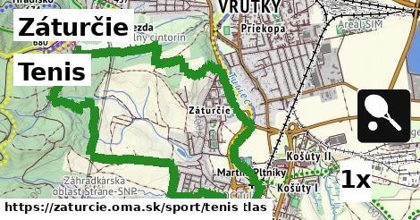 tenis v Záturčie
