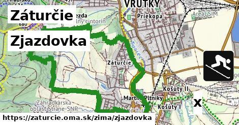 zjazdovka v Záturčie