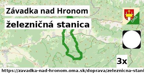 ilustračný obrázok k železničná stanica, Závadka nad Hronom