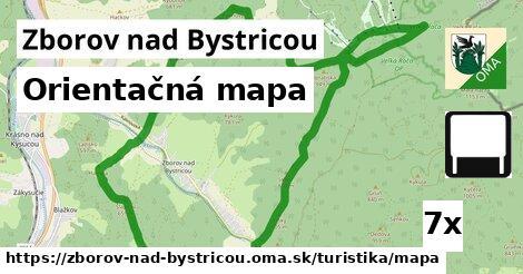 orientačná mapa v Zborov nad Bystricou