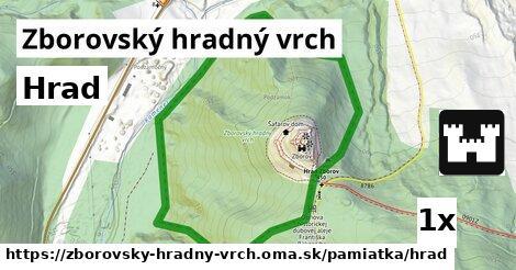 ilustračný obrázok k Hrad, Zborovský hradný vrch