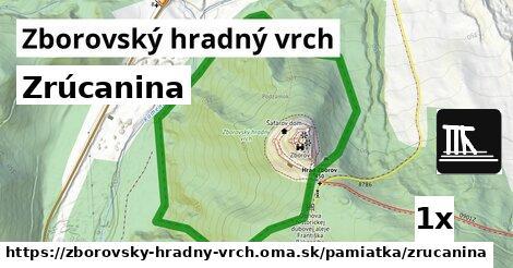 ilustračný obrázok k Zrúcanina, Zborovský hradný vrch