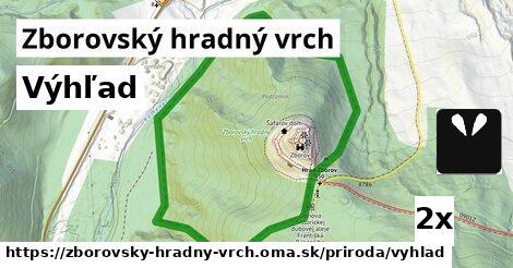 ilustračný obrázok k Výhľad, Zborovský hradný vrch