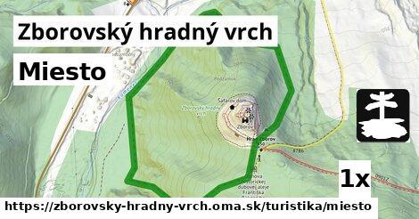 ilustračný obrázok k Miesto, Zborovský hradný vrch