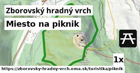 ilustračný obrázok k Miesto na piknik, Zborovský hradný vrch