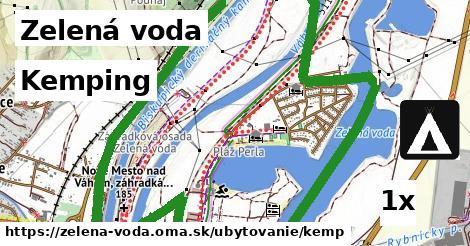 kemping v Zelená voda