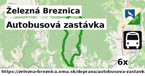 ilustračný obrázok k Autobusová zastávka, Železná Breznica
