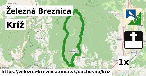 kríž v Železná Breznica