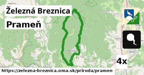 prameň v Železná Breznica