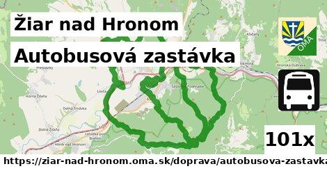 ilustračný obrázok k Autobusová zastávka, Žiar nad Hronom