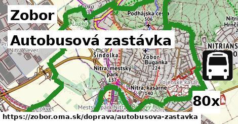 autobusová zastávka v Zobor