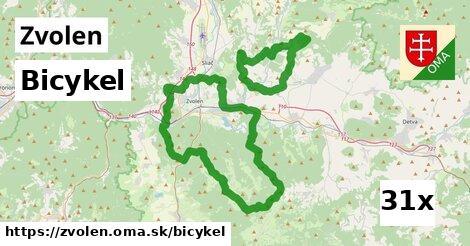 bicykel v Zvolen