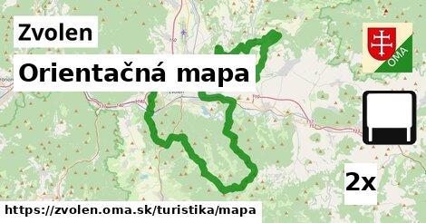 Orientačná mapa, Zvolen
