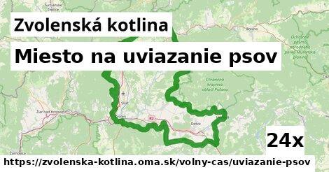 ilustračný obrázok k Miesto na uviazanie psov, Zvolenská kotlina