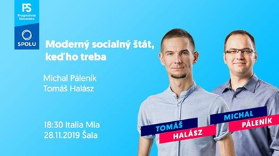 Progresívne Slovensko aSpolu: Socialný štát. keď ho treba