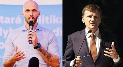 Predvolebný duel Michala Trubana aAlojza Hlinu