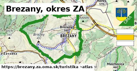 Brezany, okres ZA Turistické trasy
