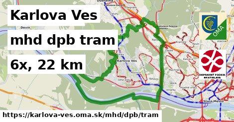 Karlova Ves Doprava dpb tram